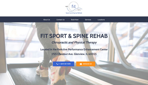 FIT Sport and Spine Rehab Website