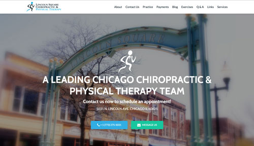 Lincoln Square Chiropractic and Physical Therapy Website