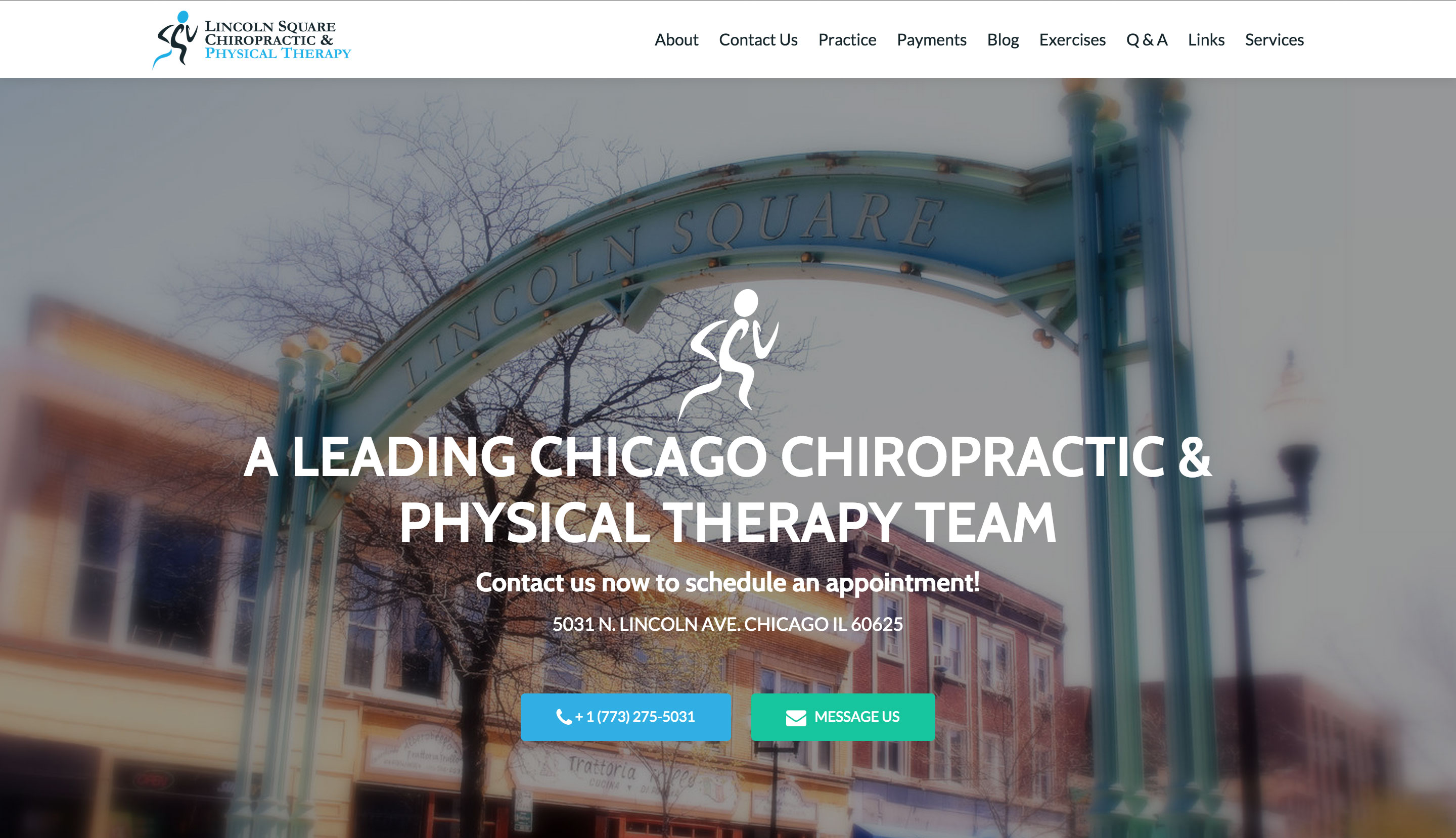 Lincoln Square Chiropractic and Physical Therapy Website After Pic